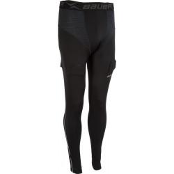 Bauer Premium Compression hokejske spodnje hlače s suspenzorjem - Youth