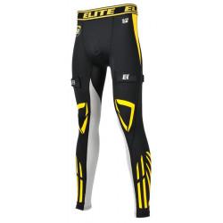Elite dolge kompresijske hokejske spodnje hlače s suspenzorjem - Senior