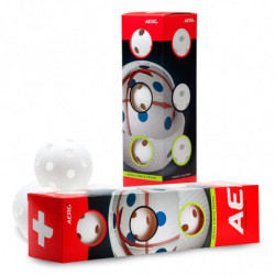 Aero plus floorball žogica 4-pack - bela