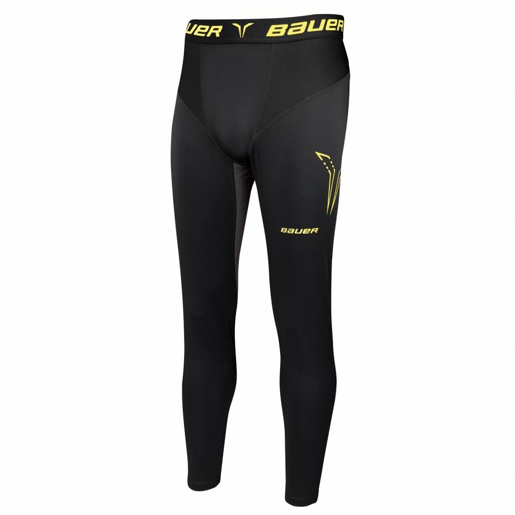Bauer Premium dolge kompresijske hokejske spodnje hlače s suspenzorjem - Senior